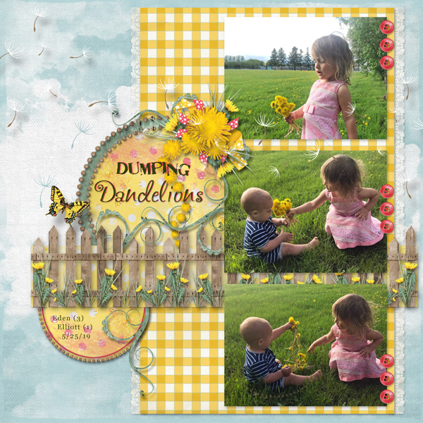 layout by Sue using Value Pack: Dandelion Days