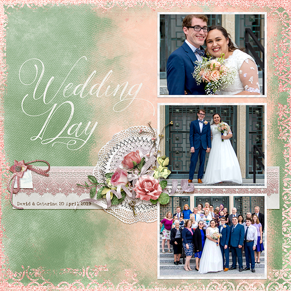 layout by April using With This Ring Collection