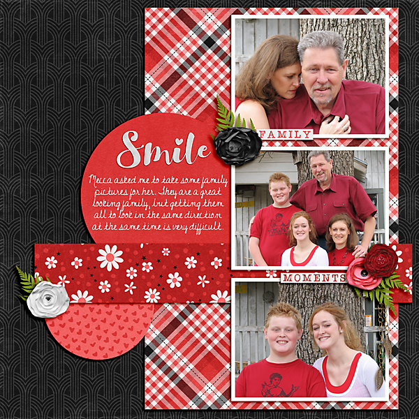 layout using Paint Chip Candy Apple by Shauna