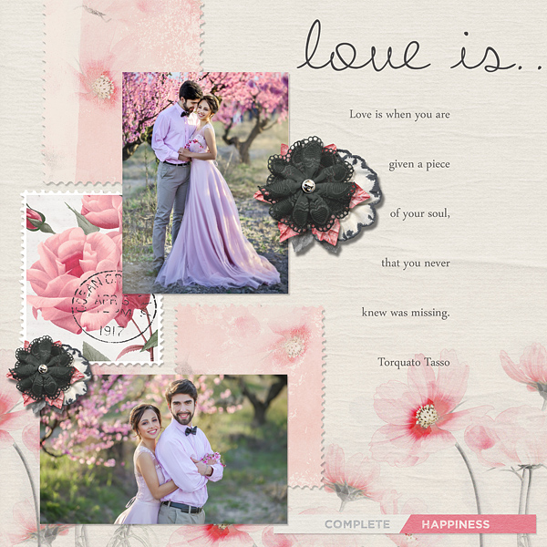layout by Carmel using Love Is