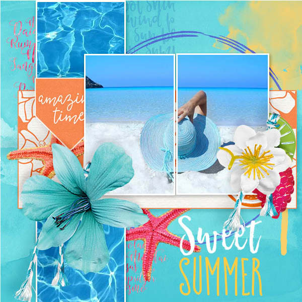 layout by Marie using Sweet Summer