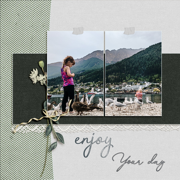 layout by Geraldine using Blissful Collection