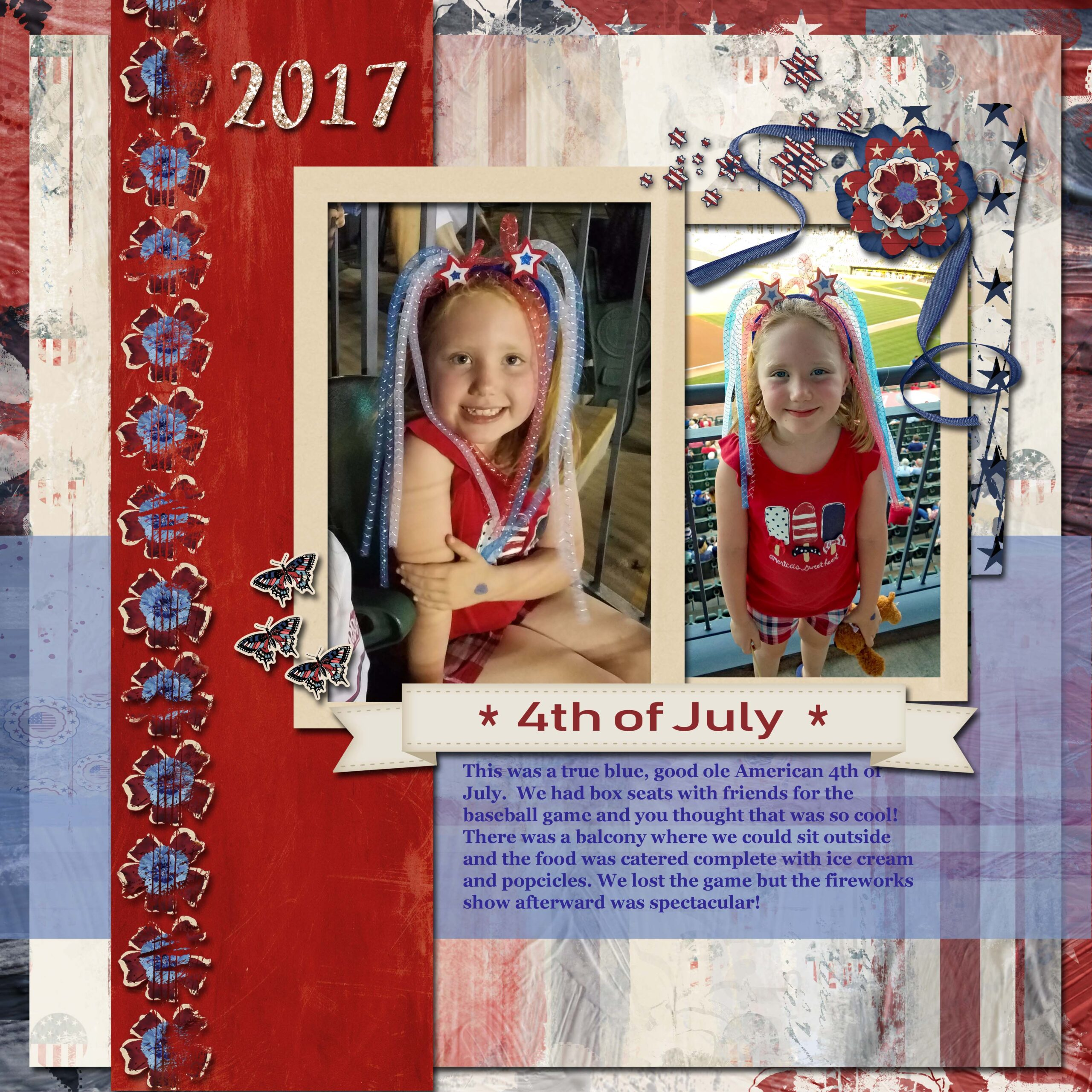 layout by Nicole using Red White Blue