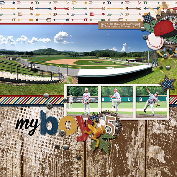 baseball layout using About A Boy