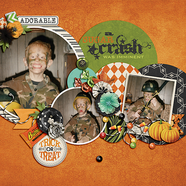 Halloween layout using Value Pack Bewitched 2