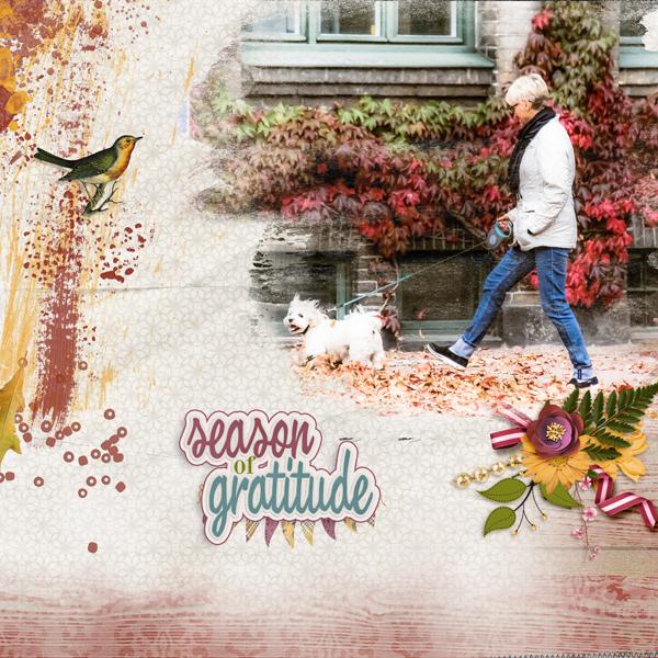 layout using Season Of Gratitude