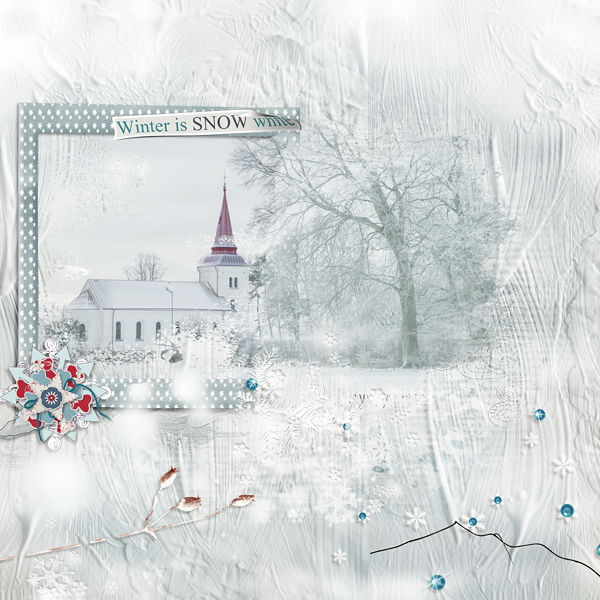 layout using Value Pack: Winters Frost
