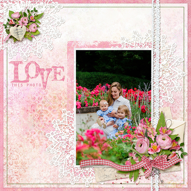 layout by April using Love Me Tender Collection