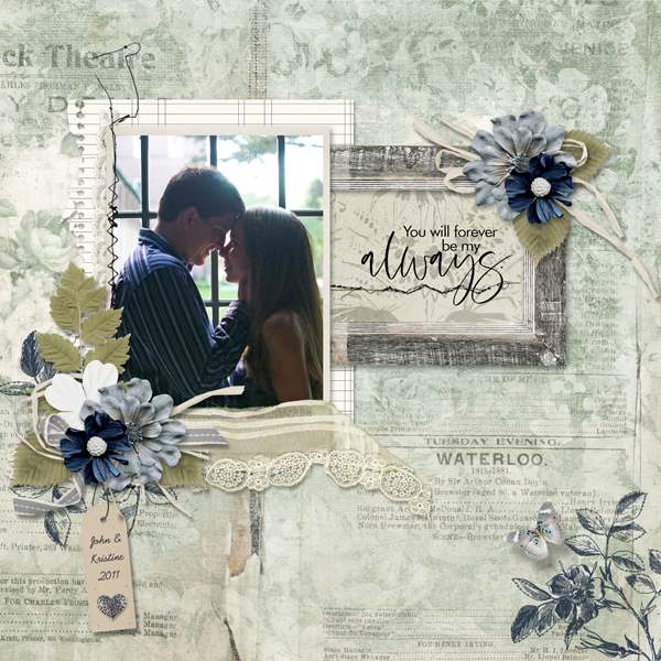 couples layout using Love Song Collection