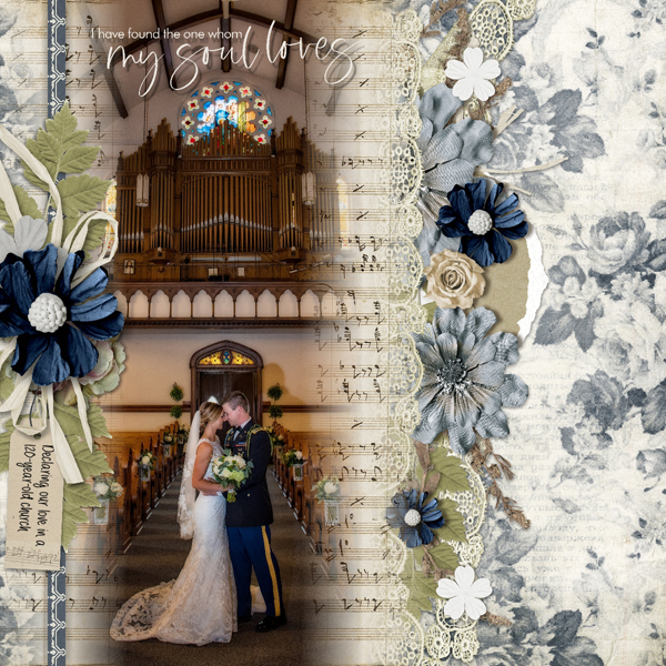 Wedding Layout using Love Song Collection