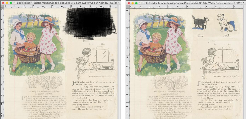 creating custom collage paper