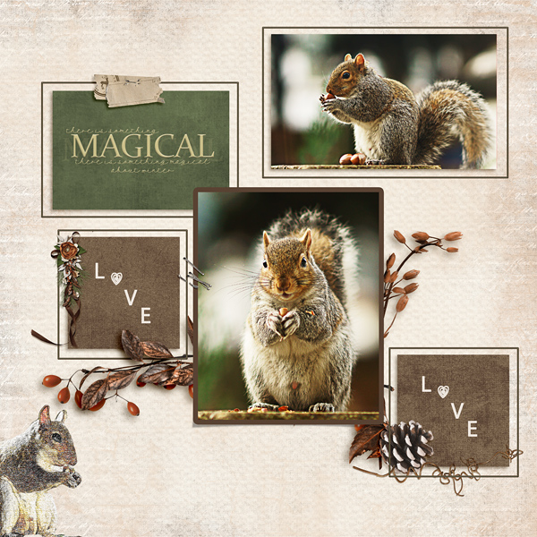 Squirrel layout using Call Of Winter Collection