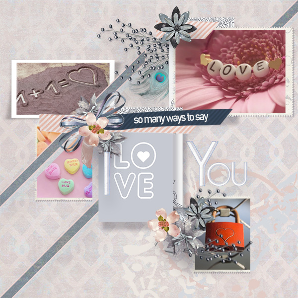 love layout using Bohemian Bliss Collection