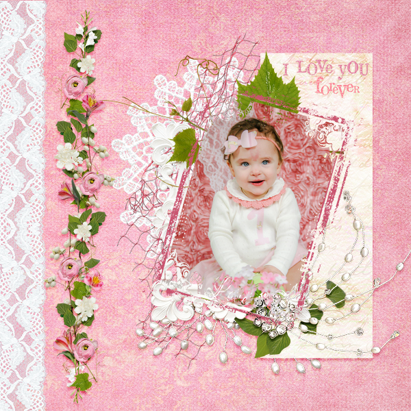 Layout by Laura using Love Me Tender Value Pack