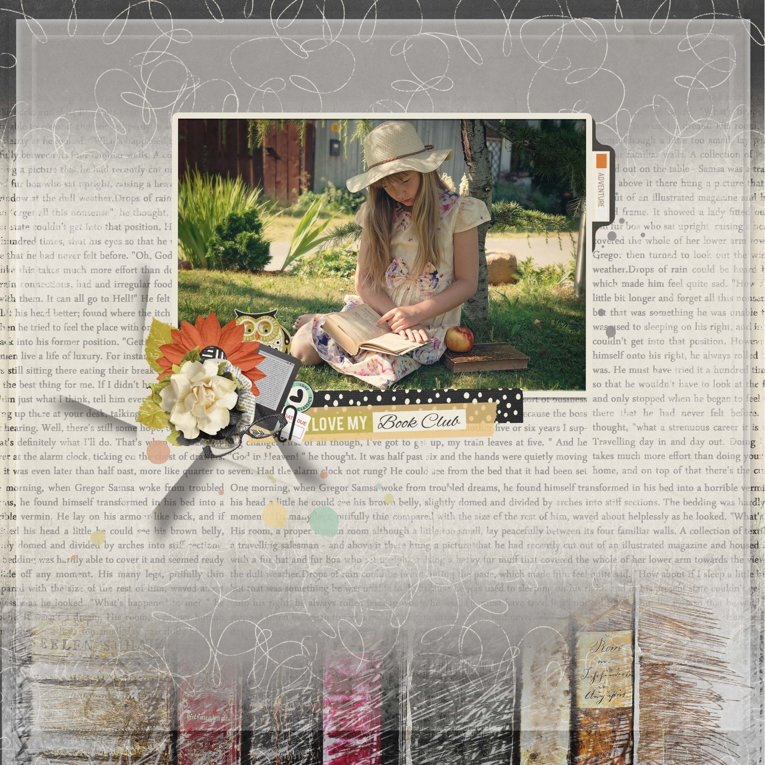 layout by Nicole using Book Club Collection