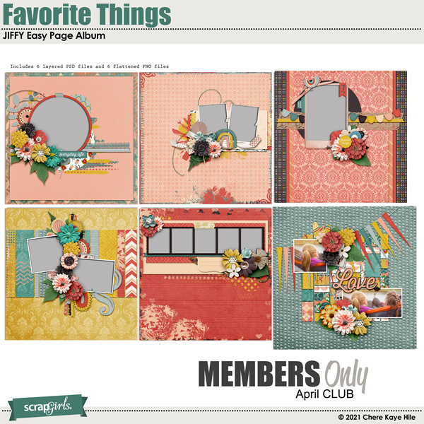 Favorite Things Jiffy Easy Page