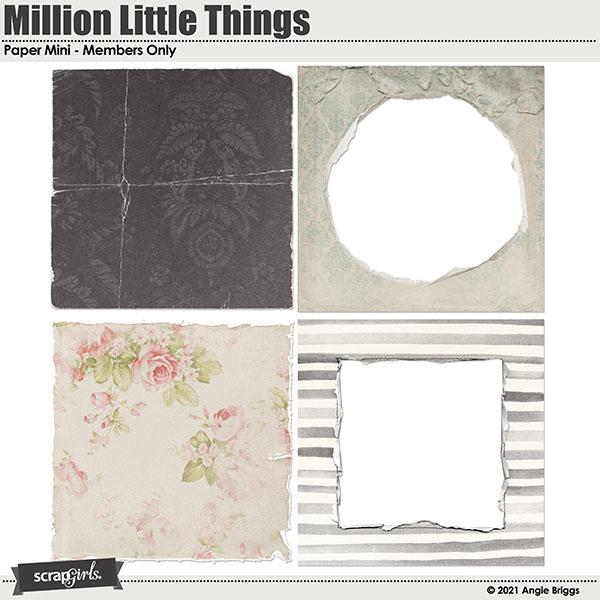Million Little Things Paper Mini