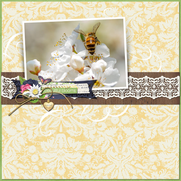 Nature layout using Heart Of Gold Collection Biggie