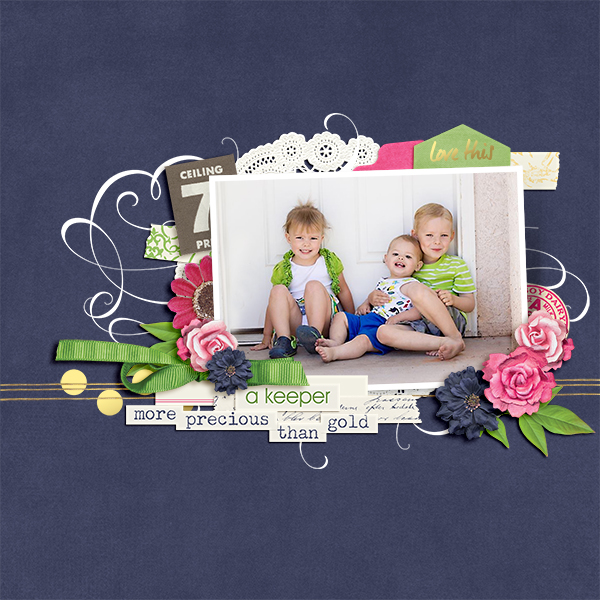 Family layout using Heart Of Gold Collection Biggie