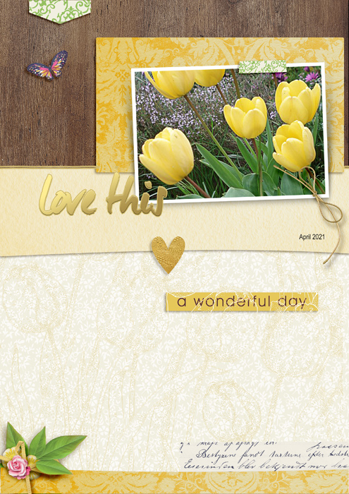 Flower layout using Heart Of Gold Collection Biggie
