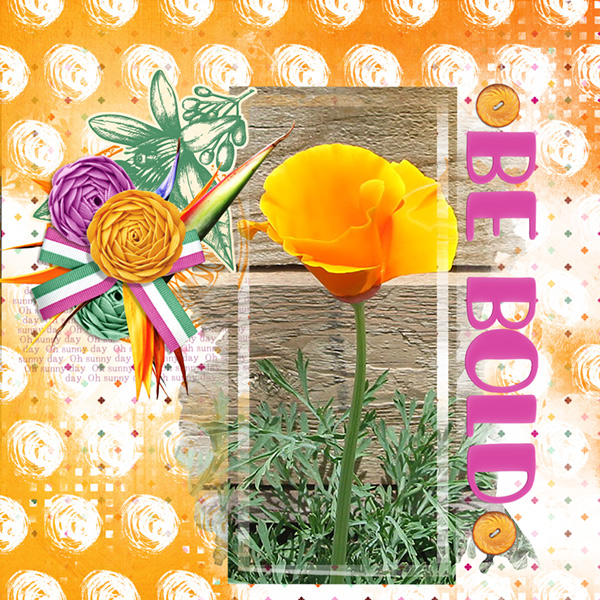 flower layout using Oh Sunny Day Collection