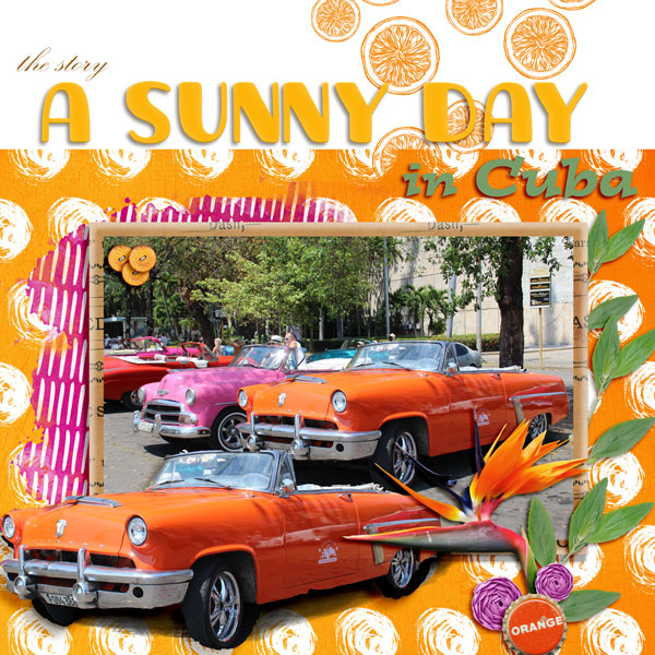 layout using Oh Sunny Day Collection