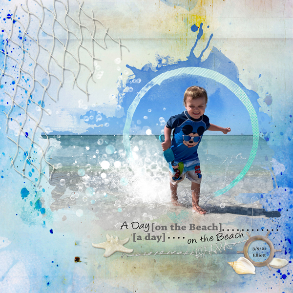 layout using Summer Time Collection Biggie