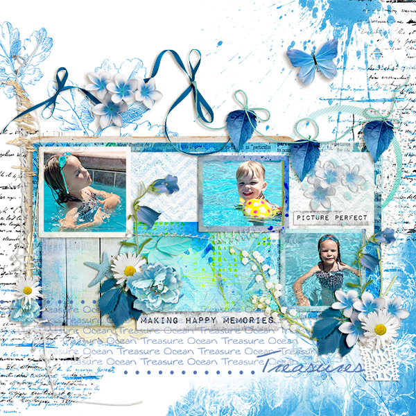 summer layout using Summer Time Collection Biggie